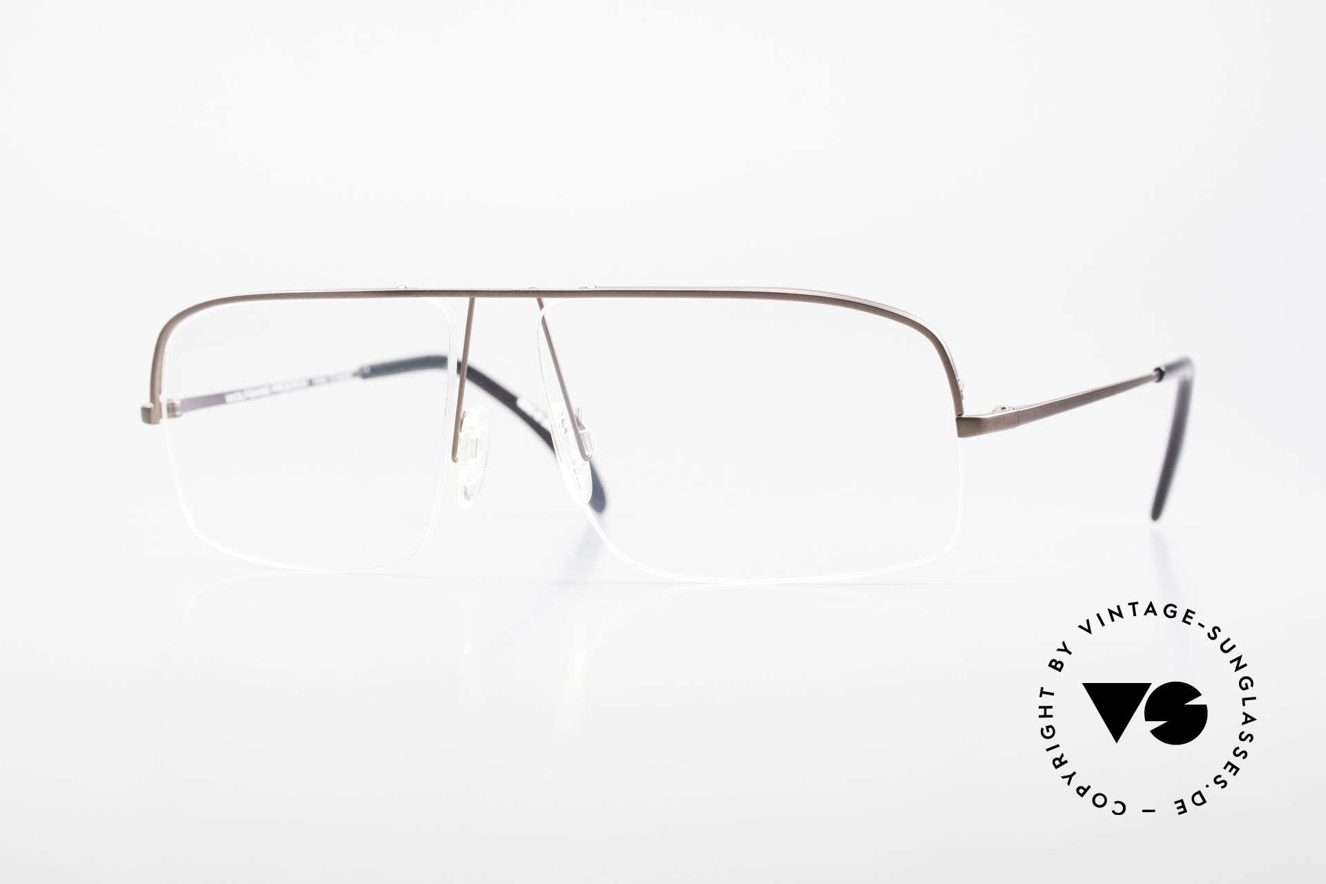 Wolfgang Proksch WP0103 New Tear Drop Titanfassung, Wolfgang Proksch vintage Brillenfassung von 1999, Passend für Herren
