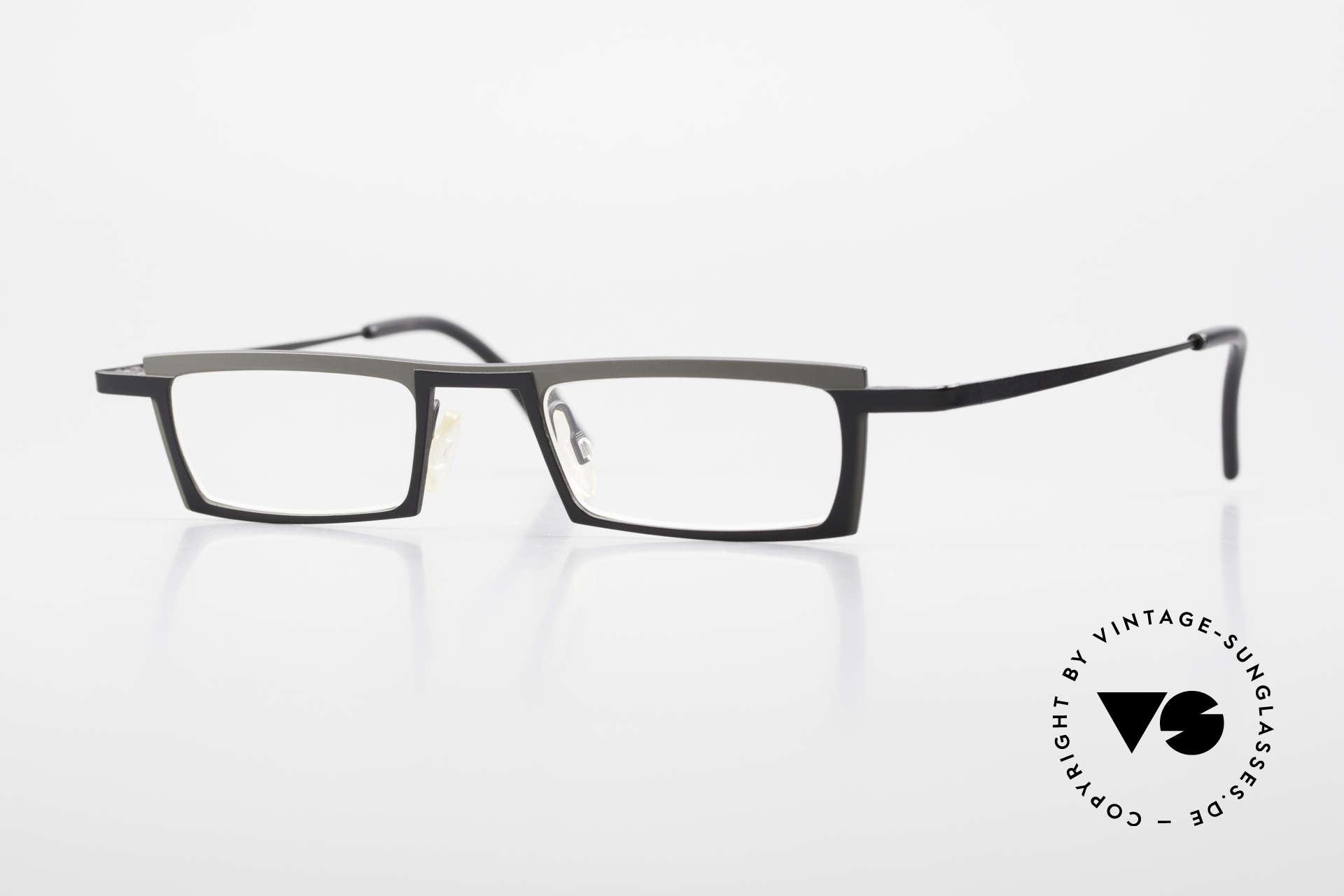 Theo Belgium Langdon Eckige Titanium Brille Herren, eckige Herren Designer Lesebrille von THEO Belgium, Passend für Herren