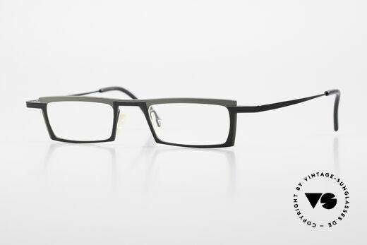 Theo Belgium Langdon Eckige Titanium Brille Herren Details