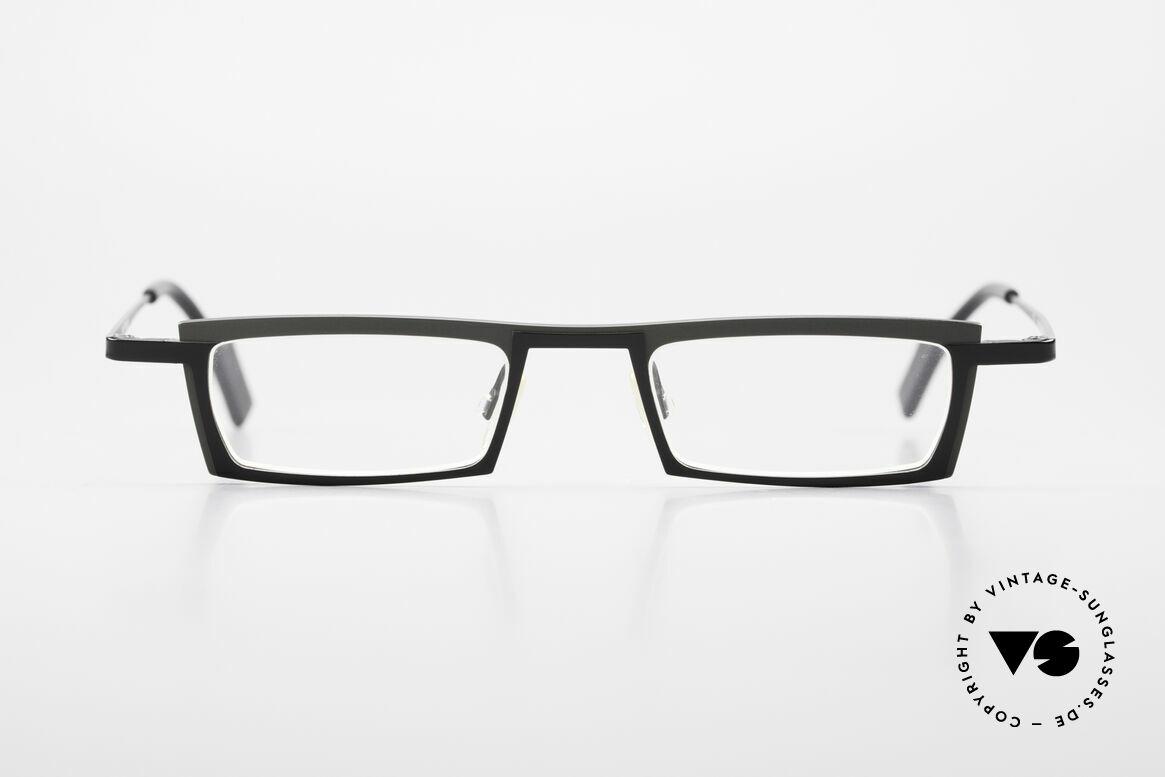 Theo Belgium Langdon Eckige Titanium Brille Herren, markantes Design in dezenter Farbe (schwarz / grau), Passend für Herren