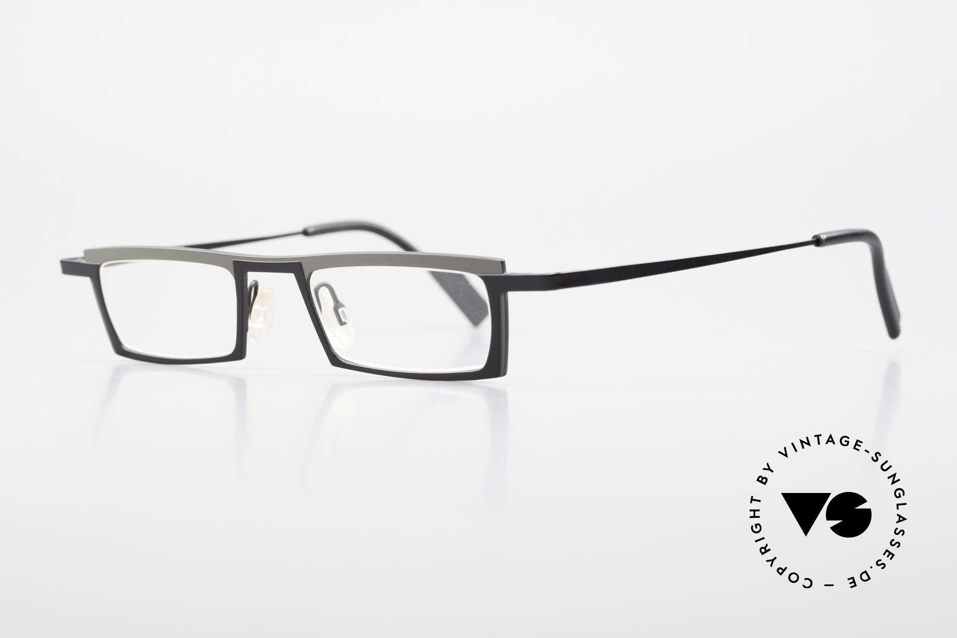 Theo Belgium Langdon Eckige Titanium Brille Herren, leicht & sehr komfortabel; PURE TITANIUM Fassung, Passend für Herren
