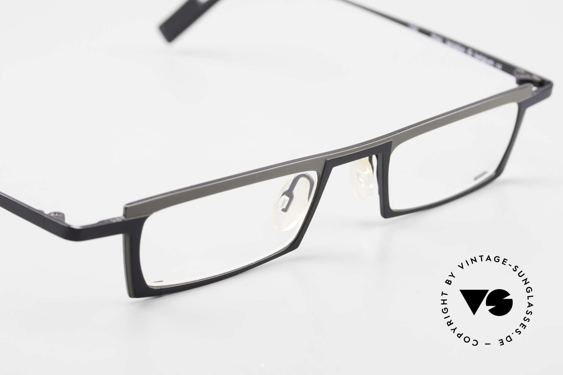 Theo Belgium Langdon Eckige Titanium Brille Herren, KEINE RETRObrille; ein circa 20 Jahre altes Original, Passend für Herren