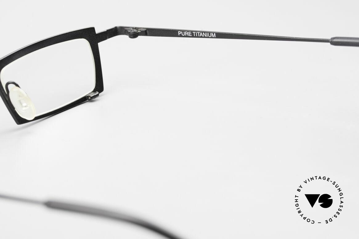 Theo Belgium Langdon Eckige Titanium Brille Herren, Größe: large, Passend für Herren