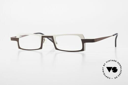 Theo Belgium Wimsey Eckige Herrenbrille Titanium Details
