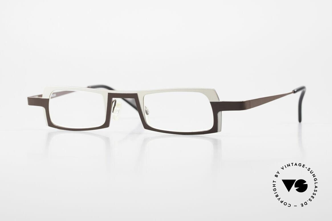 Theo Belgium Wimsey Eckige Herrenbrille Titanium, eckige Theo Belgium Designer Lesebrille für Herren, Passend für Herren
