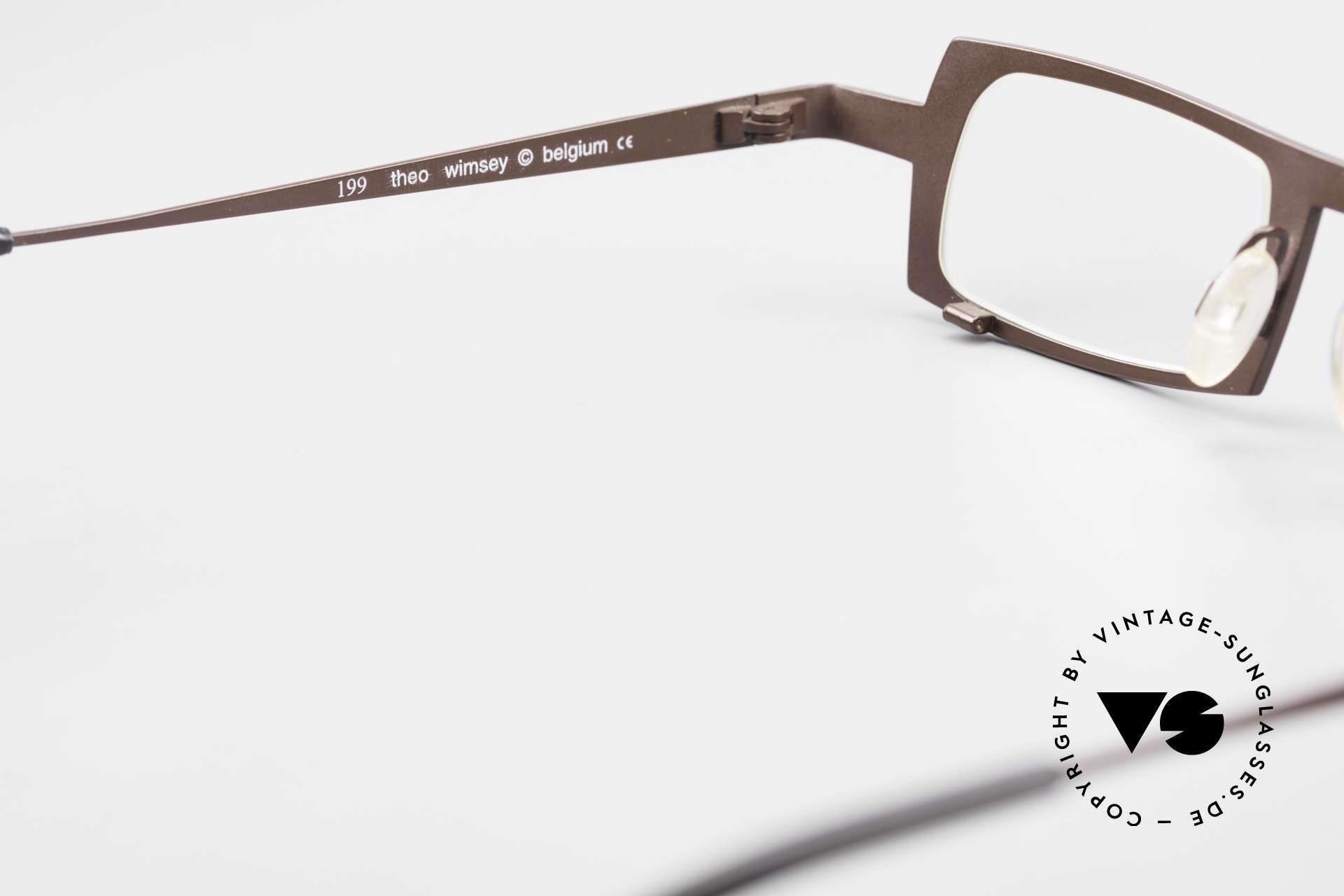 Theo Belgium Wimsey Eckige Herrenbrille Titanium, die Demogläser sollten durch optische ersetzt werden, Passend für Herren