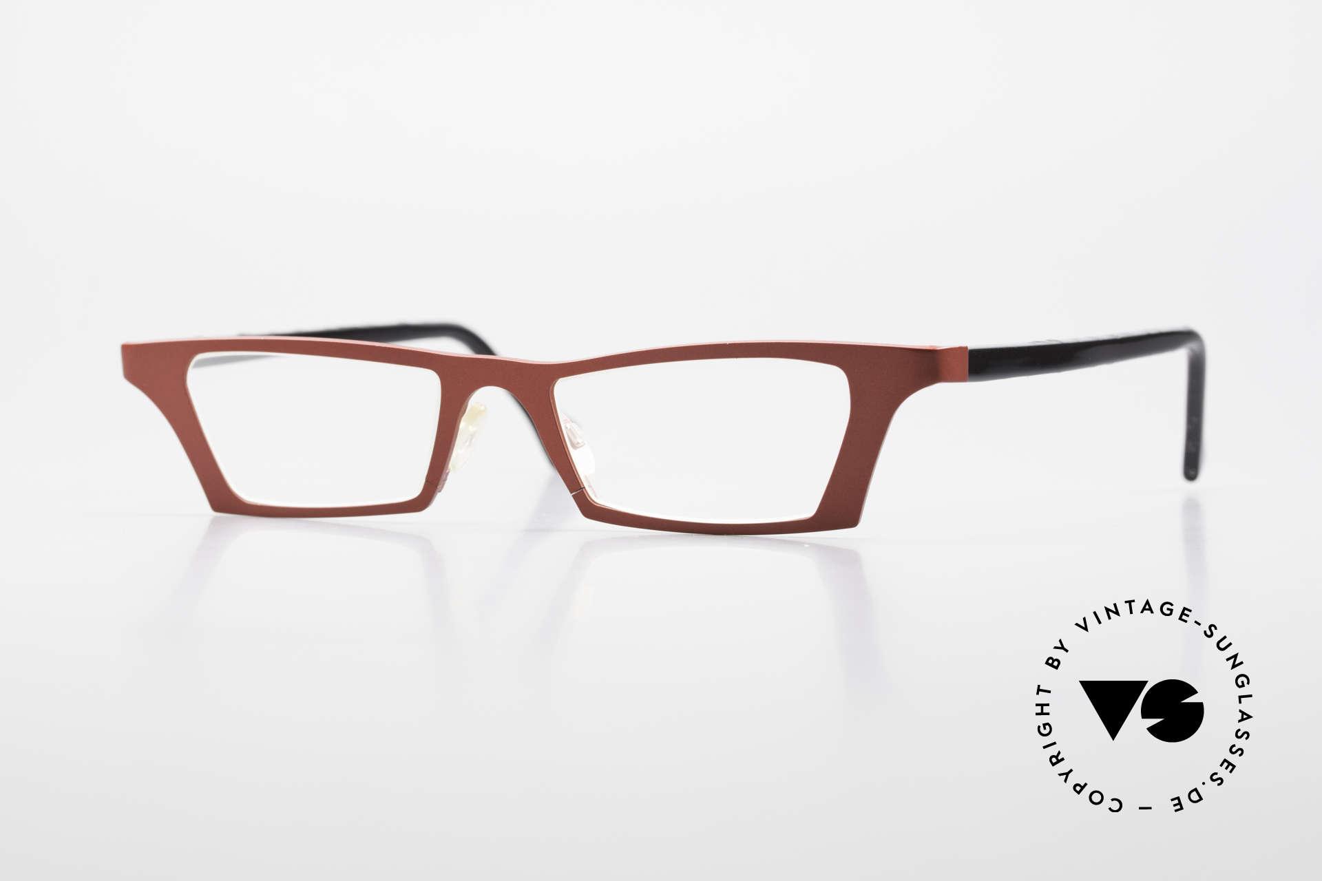 Theo Belgium Eye-Witness JJ Damenbrille Pure Titanium, verrückte Lesebrille der Theo Belgium Eye Witness Serie, Passend für Damen