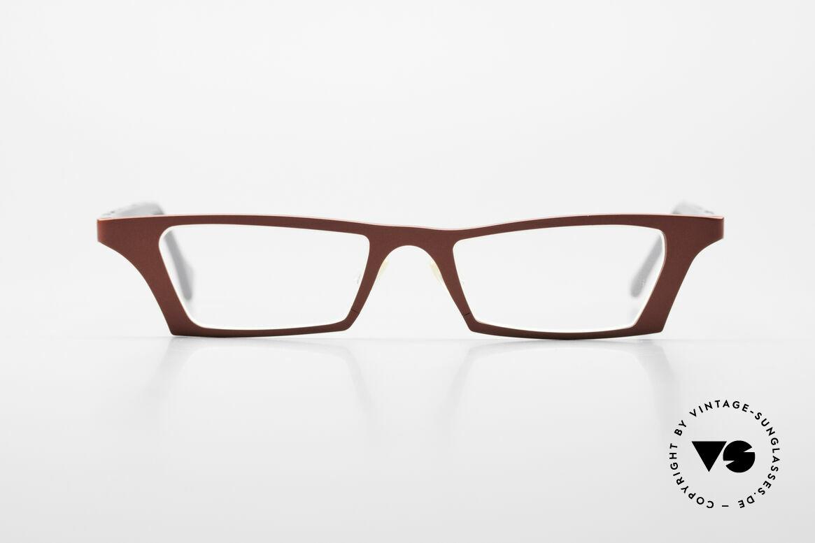 Theo Belgium Eye-Witness JJ Damenbrille Pure Titanium, zauberhafte Damenbrille der späten 90er / frühe 2000er, Passend für Damen