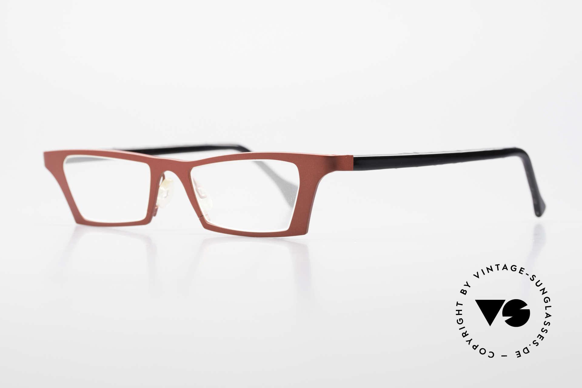 Theo Belgium Eye-Witness JJ Damenbrille Pure Titanium, spektakulärer Eye-Catcher in TOP-Qualität (Titanium), Passend für Damen