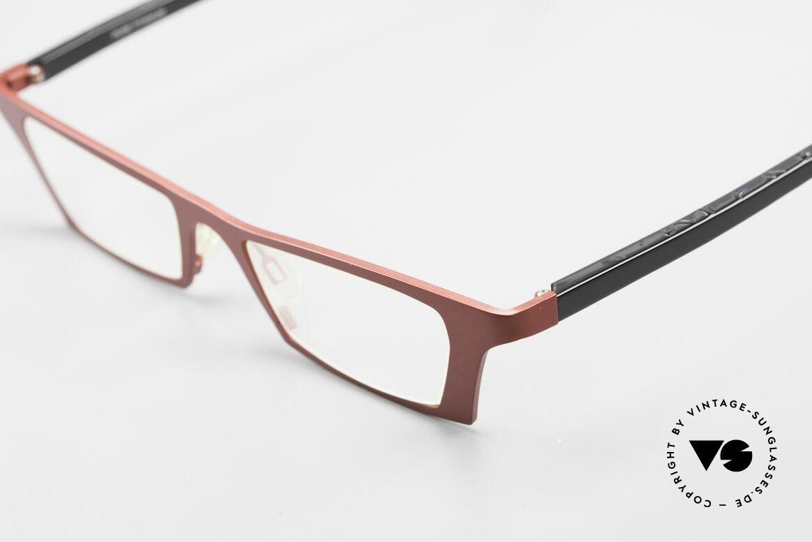 Theo Belgium Eye-Witness JJ Damenbrille Pure Titanium, ungetragenes Theo-Einzelstück für die, die sich trauen ;), Passend für Damen