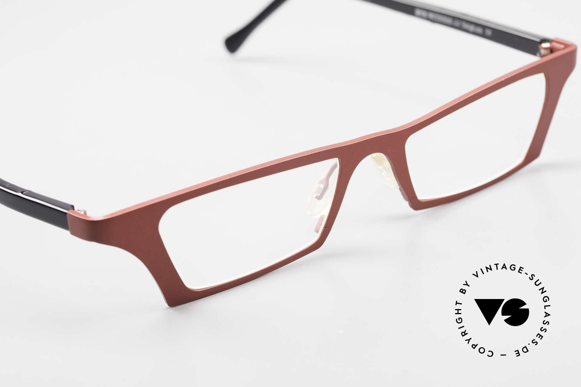 Theo Belgium Eye-Witness JJ Damenbrille Pure Titanium, sozusagen: vintage Brillenfassung mit Symbol-Charakter, Passend für Damen