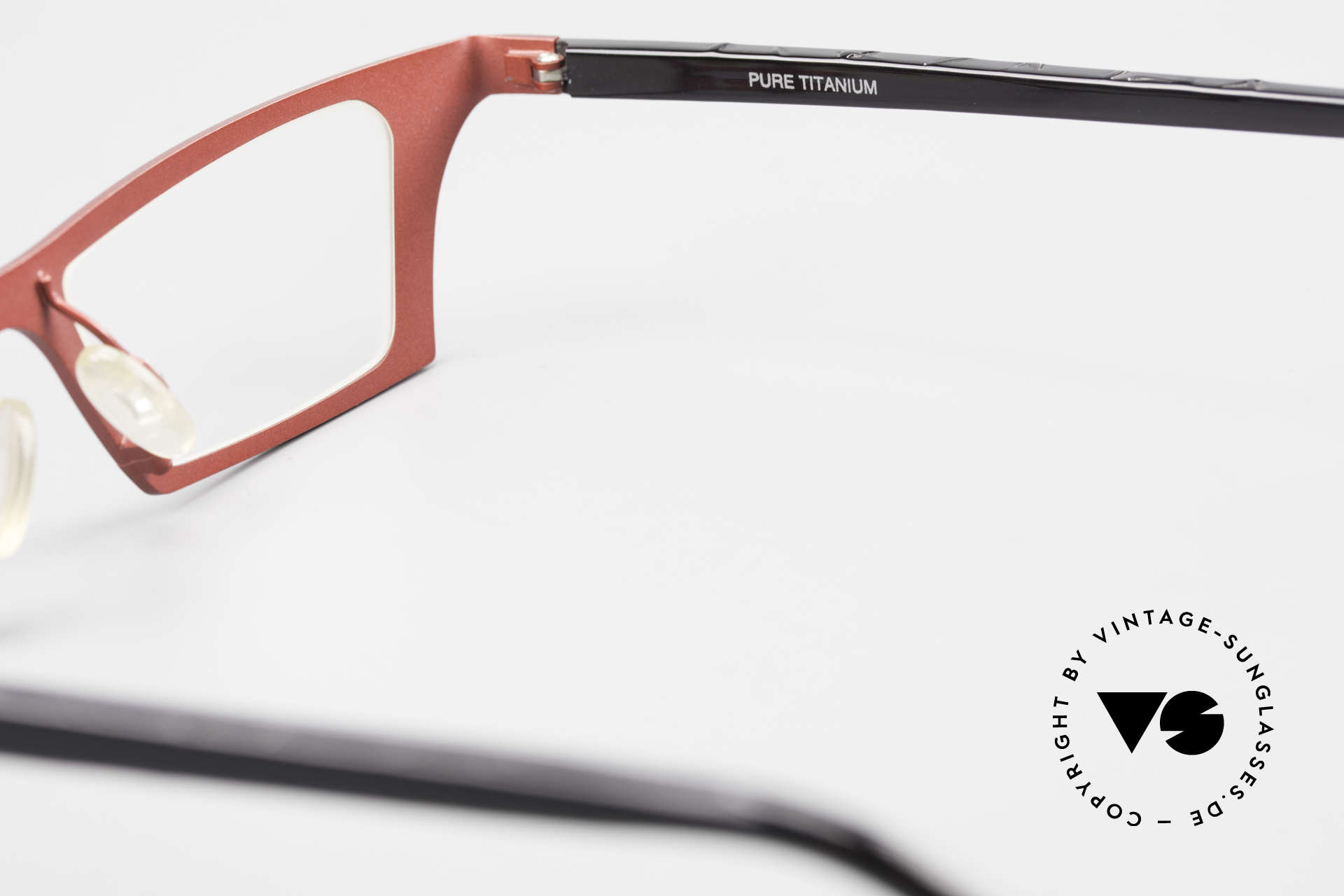 Theo Belgium Eye-Witness JJ Damenbrille Pure Titanium, Größe: large, Passend für Damen