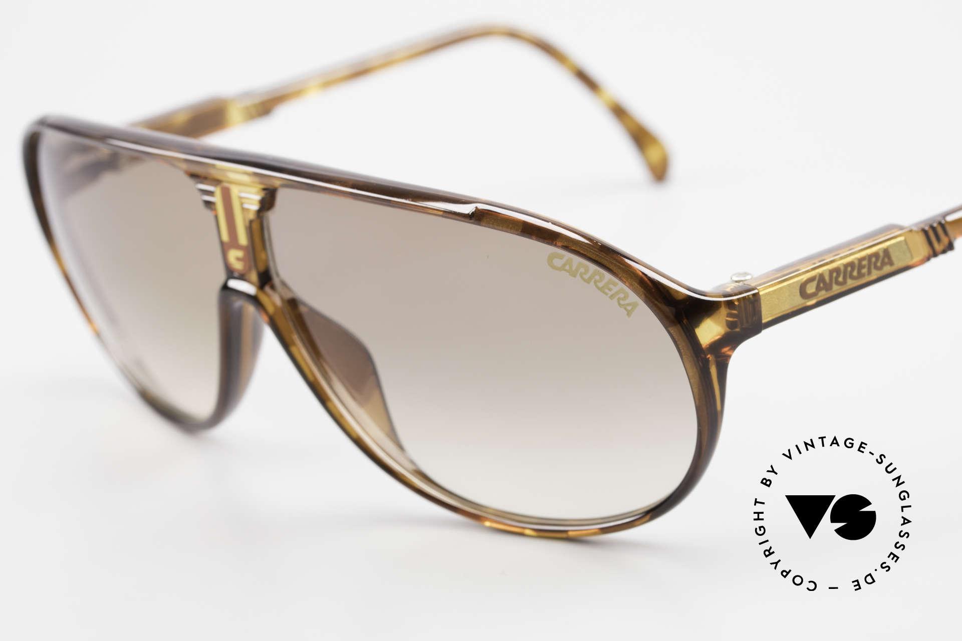 Carrera 5412 Optyl Sonnenbrille 80er Sport, 3 Paar Wechselgläser für unterschiedliche Bedingungen, Passend für Herren und Damen