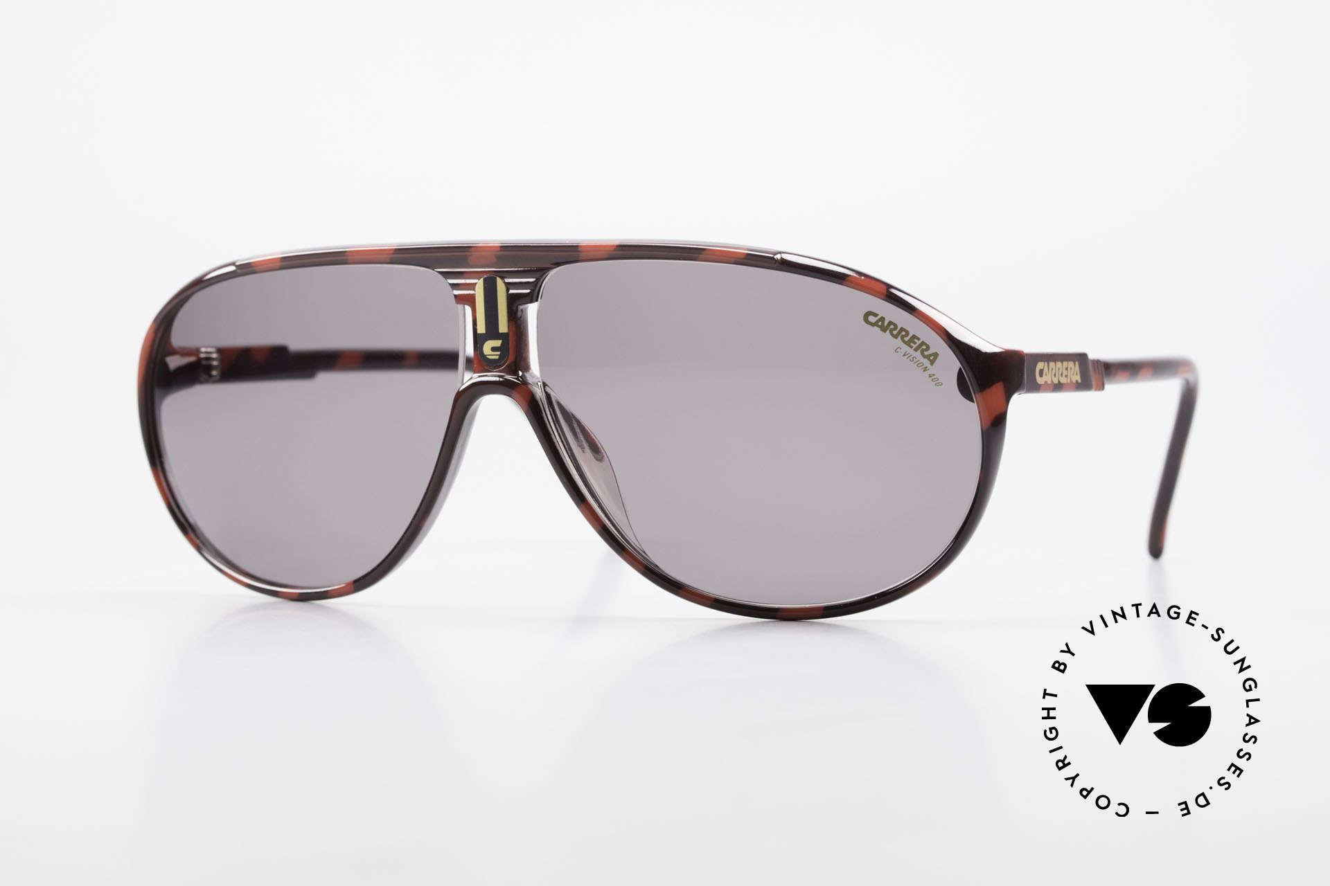 Carrera 5412 80er Sonnenbrille Optyl Sport, sportliche Carrera Sonnenbrille der Collection 1989/90, Passend für Herren und Damen