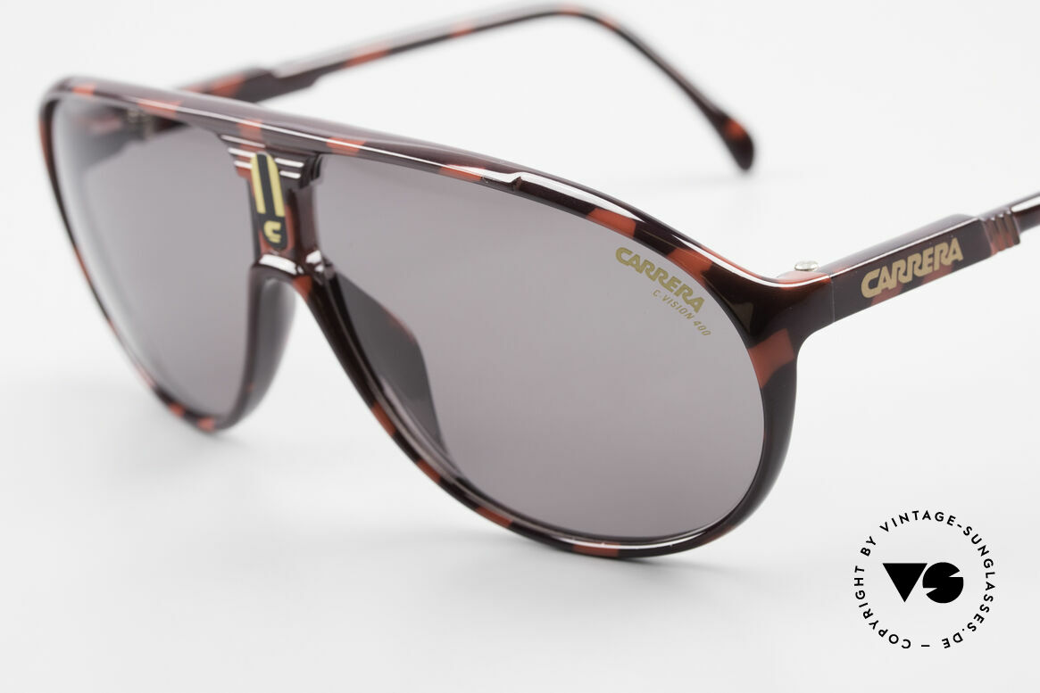 Carrera 5412 80er Sonnenbrille Optyl Sport, 3 Paar Wechselgläser für unterschiedliche Bedingungen, Passend für Herren und Damen