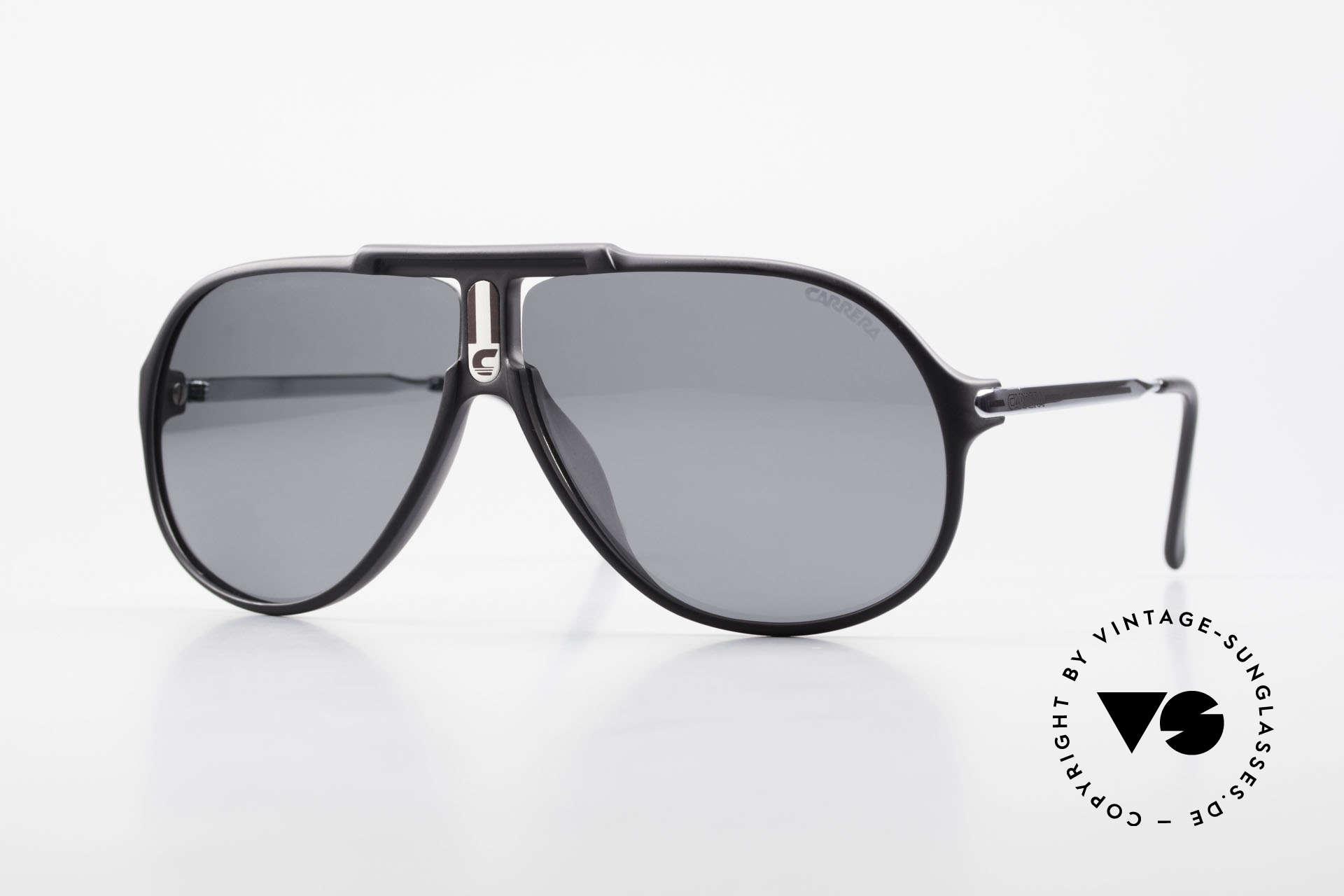 Carrera 5590 80er 90er Brille Polarisierend, alte Carrera Sonnenbrille der Kollektion von 1989/90, Passend für Herren