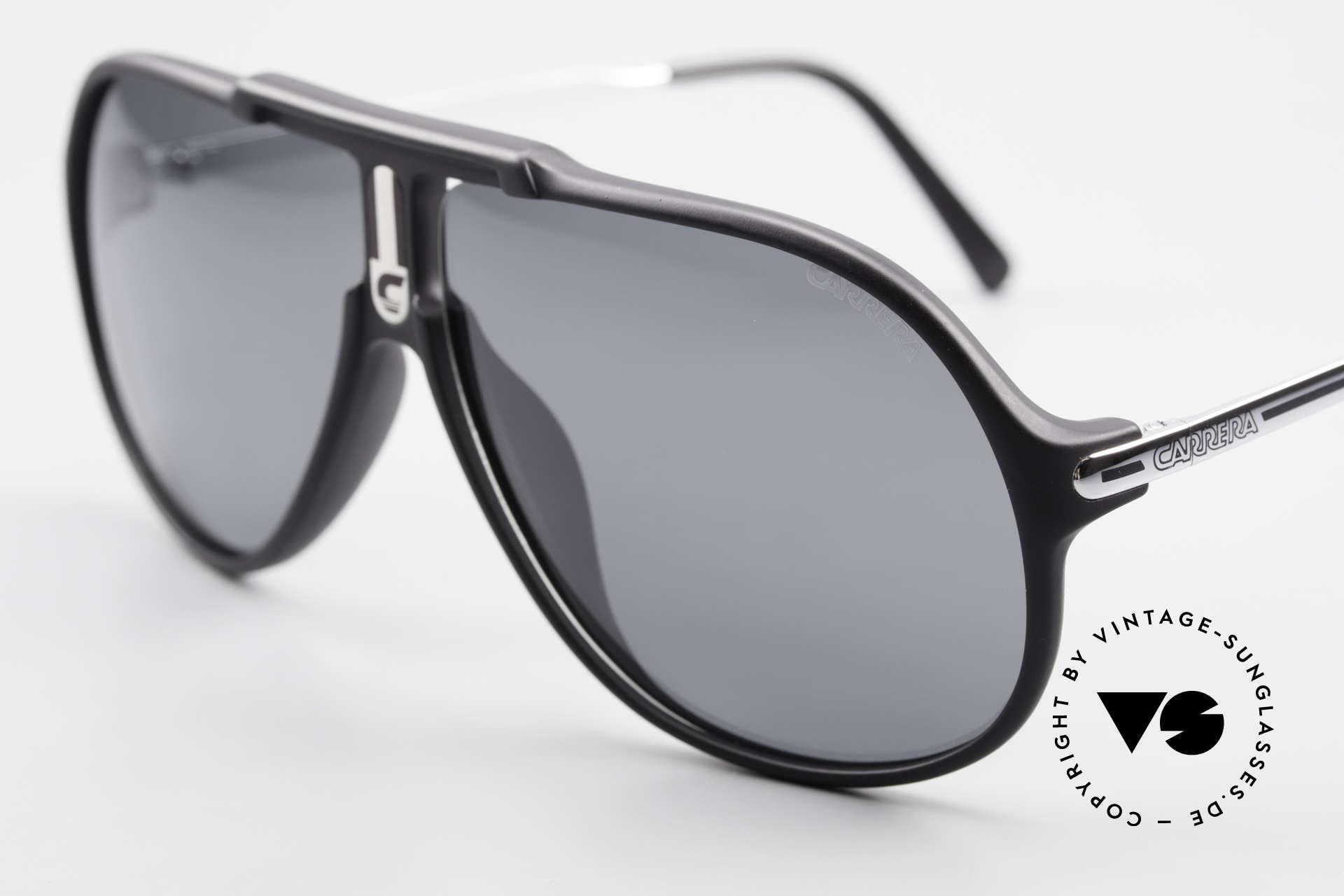 Carrera 5590 80er 90er Brille Polarisierend, 3 Paar Wechselgläser für unterschiedliche Bedingungen, Passend für Herren