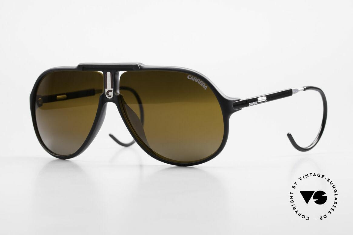 Carrera 5590 Verspiegelt Vario Sportbügel, verspiegelte Carrera vintage Sonnenbrille von 1989/90, Passend für Herren