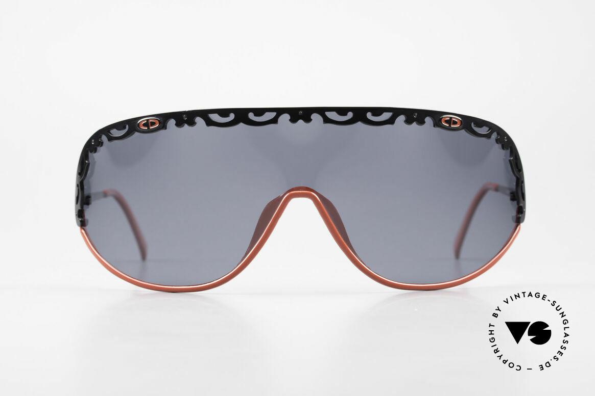 Christian Dior 2501 Polarisierende Sonnenbrille, eine durchgehende Scheibe in Gr. XL (Panorama-View), Passend für Damen