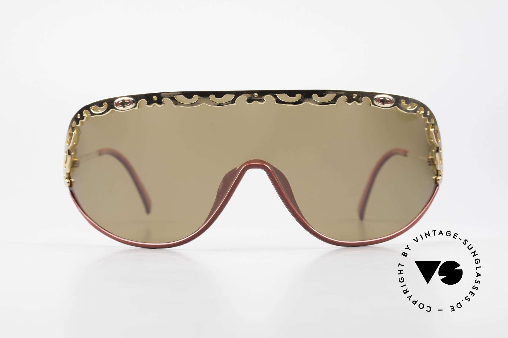 Christian Dior 2501 Panorama View Sonnenbrille, Dior Original mit einer durchgehenden Scheibe, Gr. XL, Passend für Damen