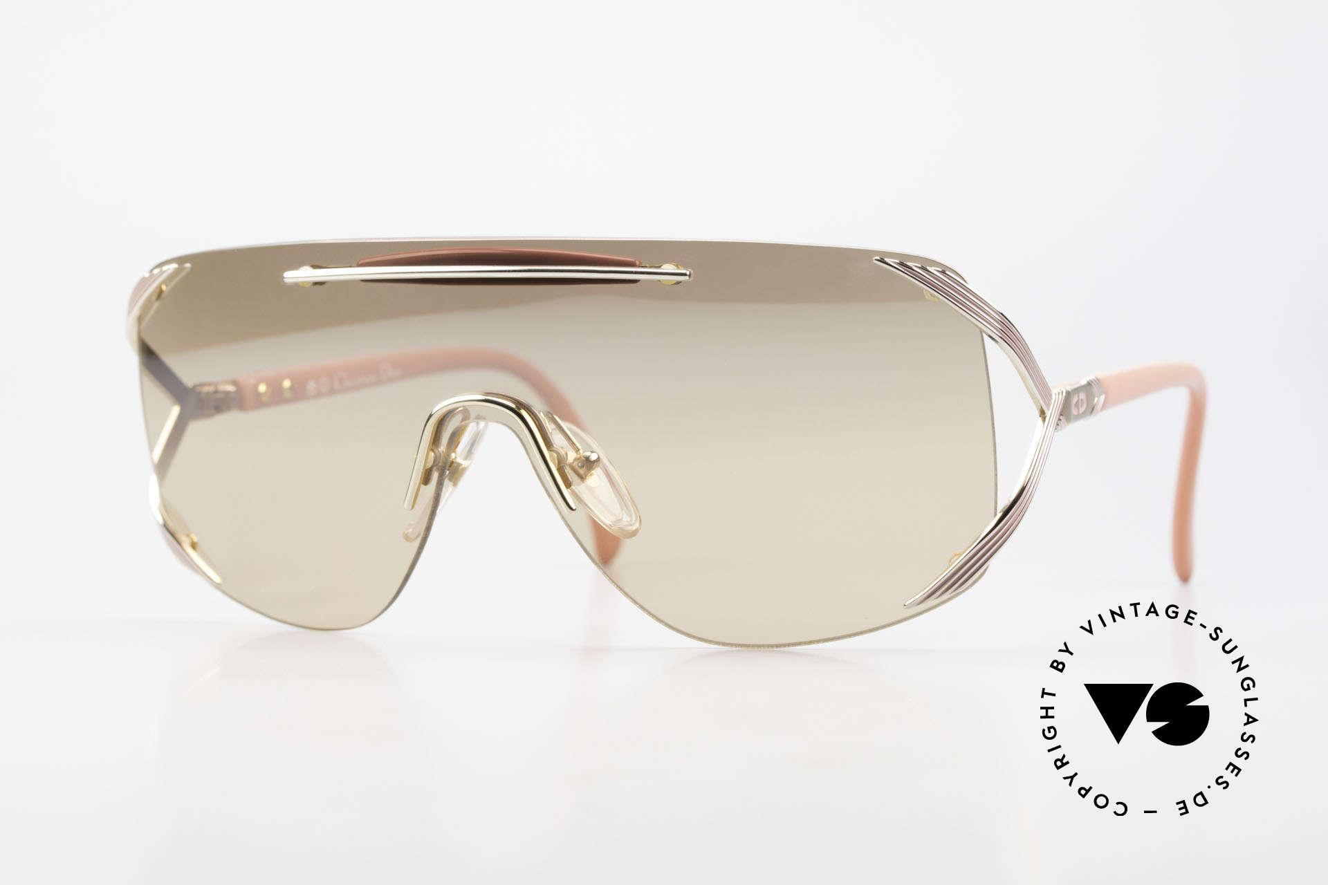 Christian Dior 2434 Leicht Pink Verspiegelte Brille, Christian Dior Designer-Sonnenbrille v. 1989/90, Passend für Damen