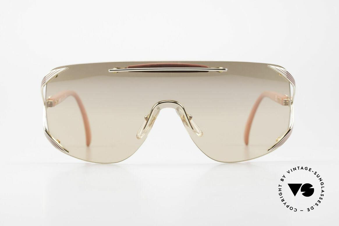 Christian Dior 2434 Leicht Pink Verspiegelte Brille, ein durchgehendes Glas für einen Panorama View, Passend für Damen