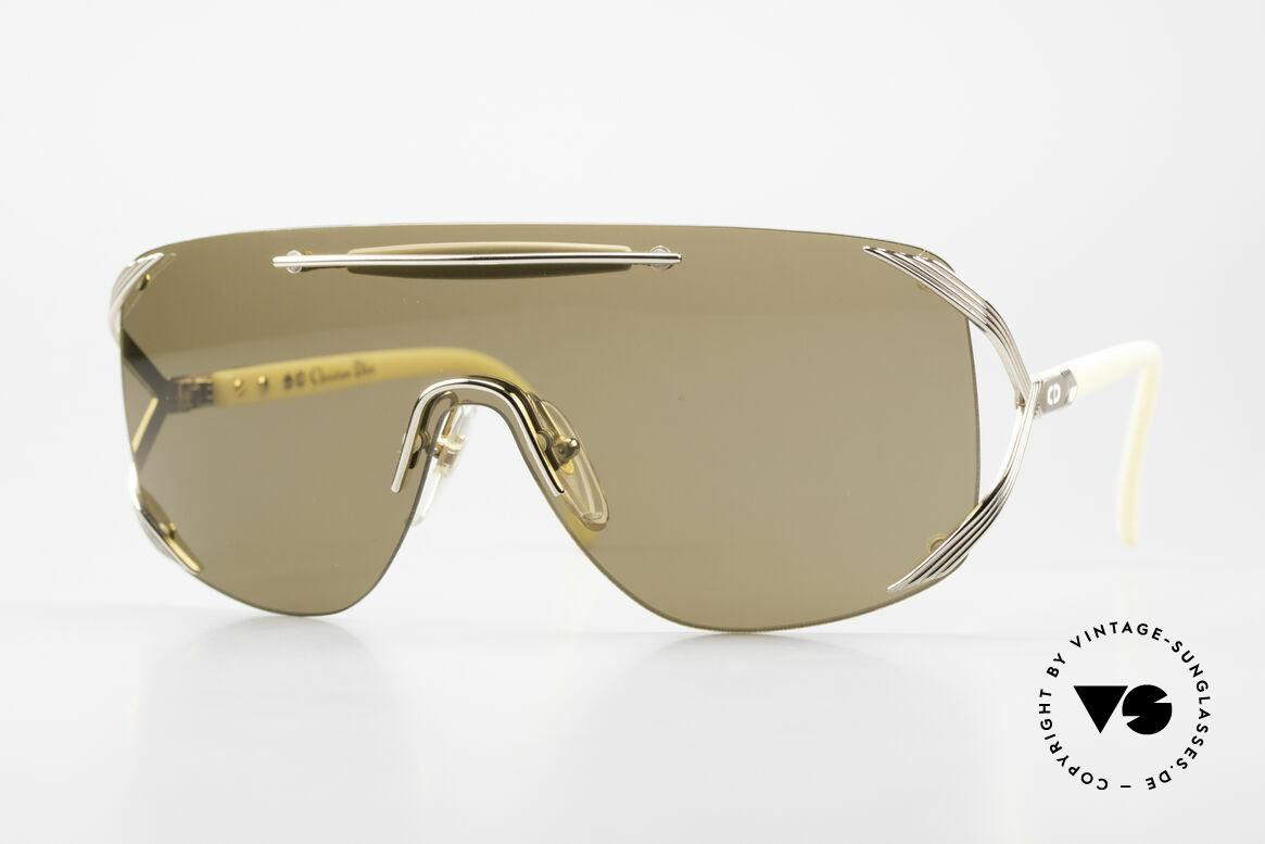 Christian Dior 2434 Designerbrille Shield Maske, Christian Dior Designer-Sonnenbrille v. 1989/90, Passend für Damen