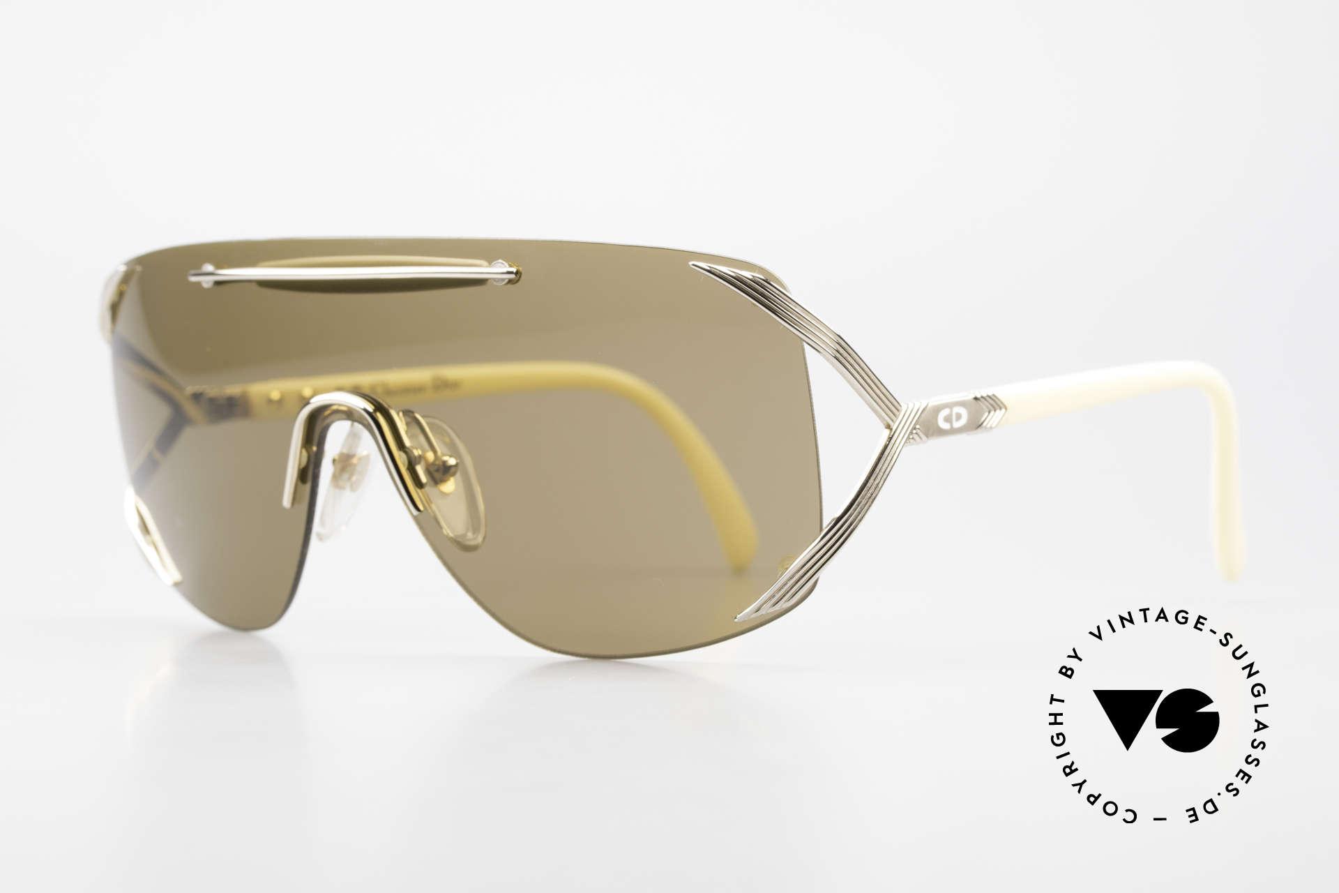"""Christian Dior 2434 Designerbrille Shield Maske, das Design wird u.a. auch """"Schild"""" oder """"Maske"""", Passend für Damen"""