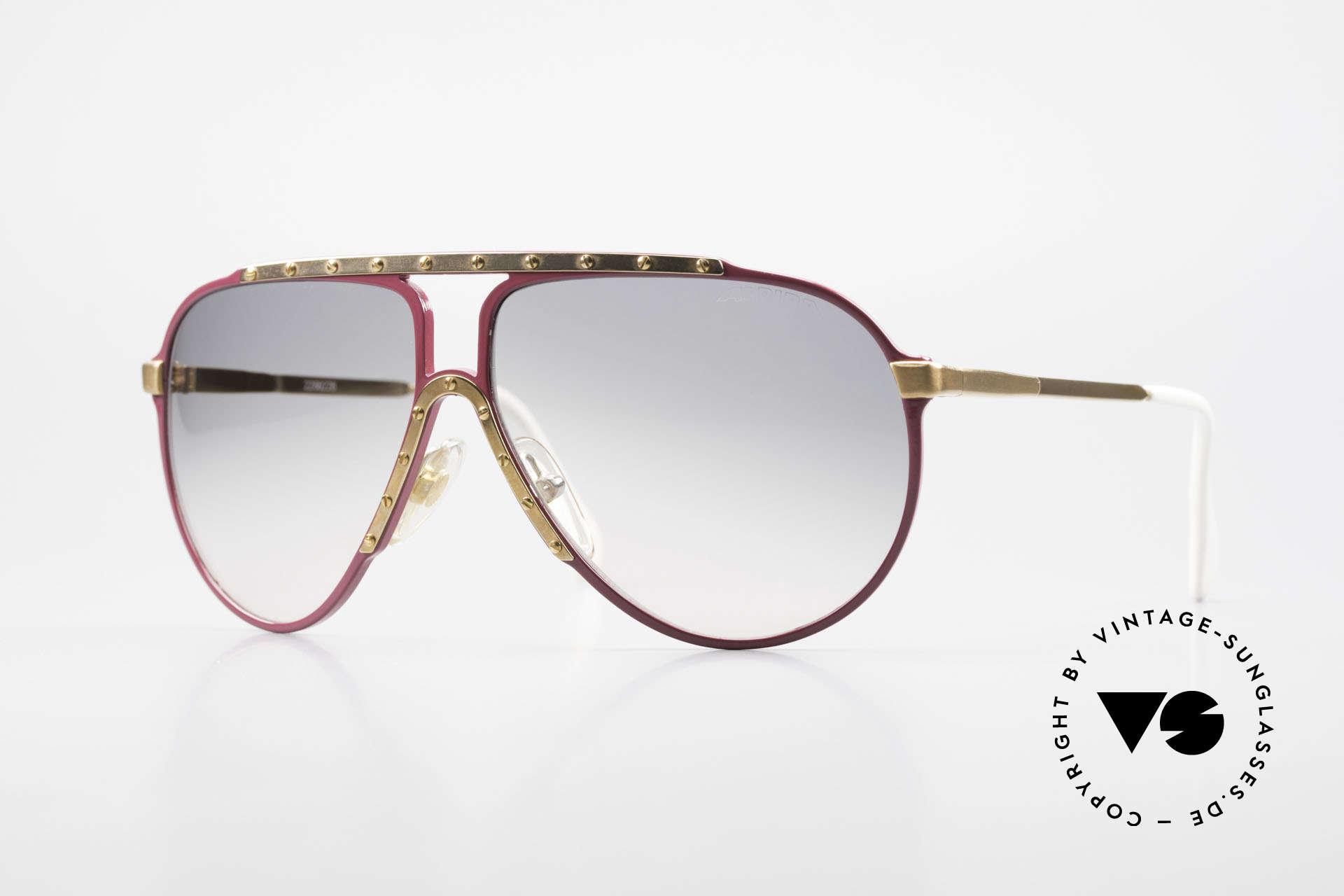 Alpina M1 80er Vintage Kultbrille Pink, pinke ALPINA M1 Sonnenbrille in Größe 60°12, Passend für Damen