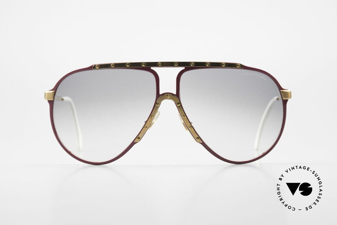 Alpina M1 80er Vintage Kultbrille Pink, die 80er KULT-Sonnenbrille mit den Schrauben, Passend für Damen