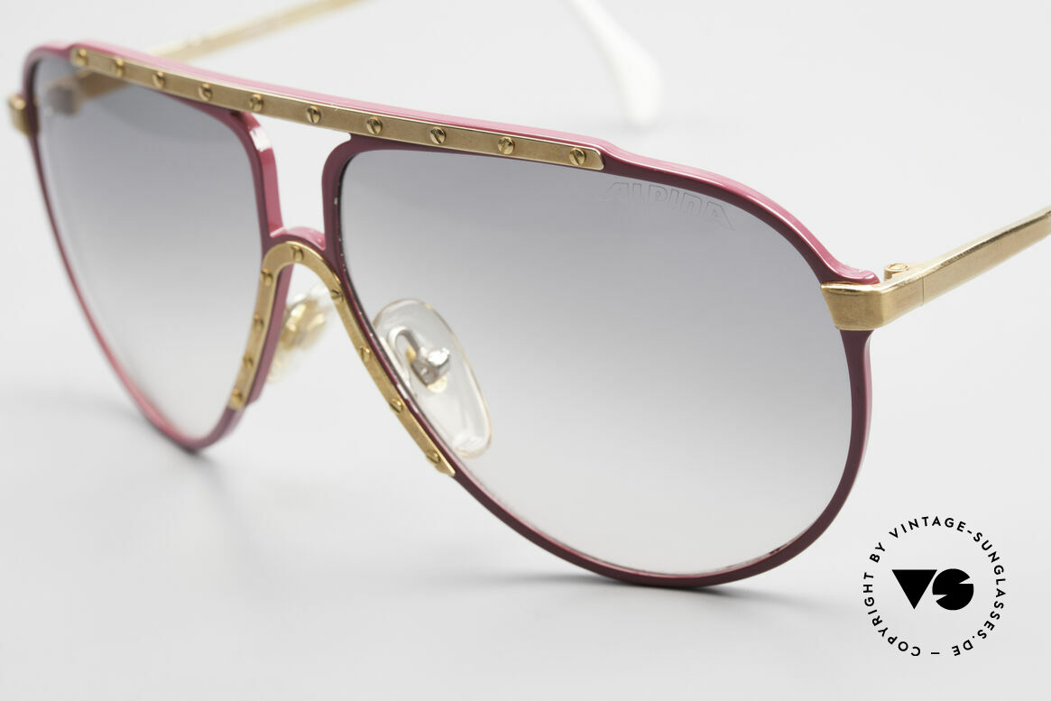 Alpina M1 80er Vintage Kultbrille Pink, ungetragen; leider leicht beschädigt (Lagerung), Passend für Damen