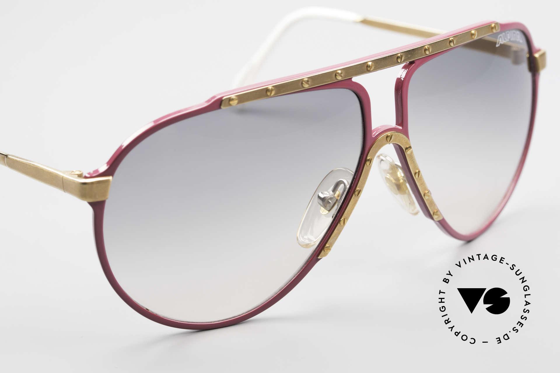 Alpina M1 80er Vintage Kultbrille Pink, LACKSCHADEN auf der Rückseite: siehe 7. Foto!, Passend für Damen