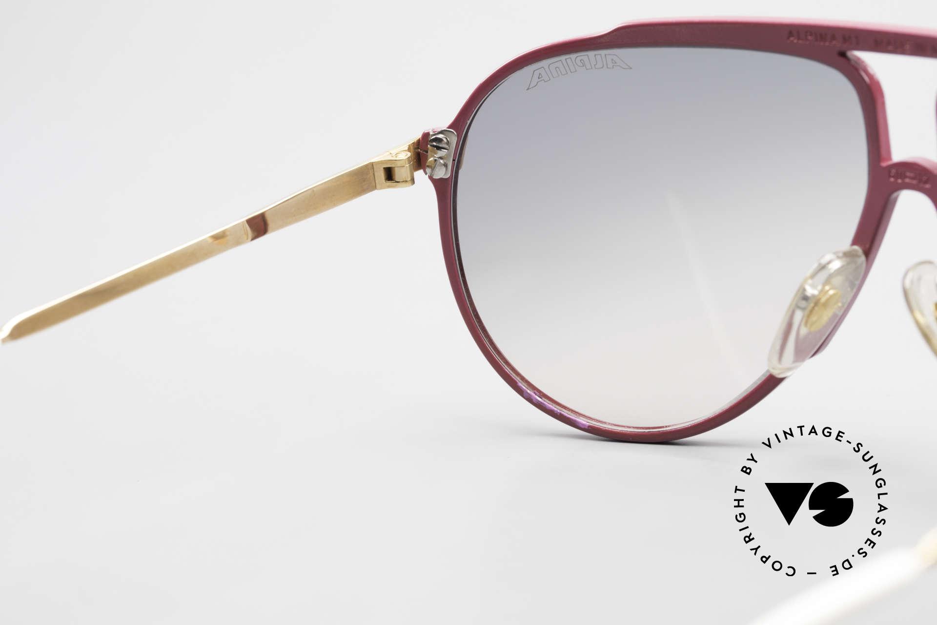 Alpina M1 80er Vintage Kultbrille Pink, Größe: medium, Passend für Damen
