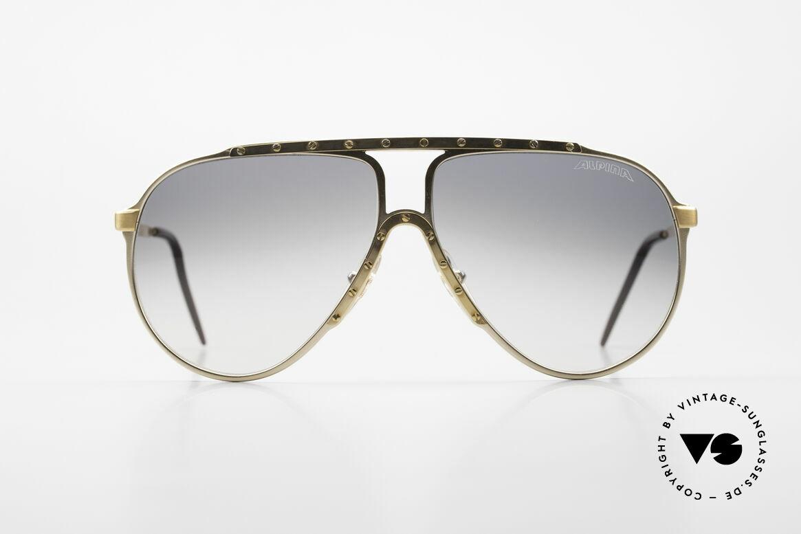 Alpina M1 80er Kult Vintage Sonnenbrille, die Kultsonnenbrille der 80er Jahre schlechthin, Passend für Herren und Damen