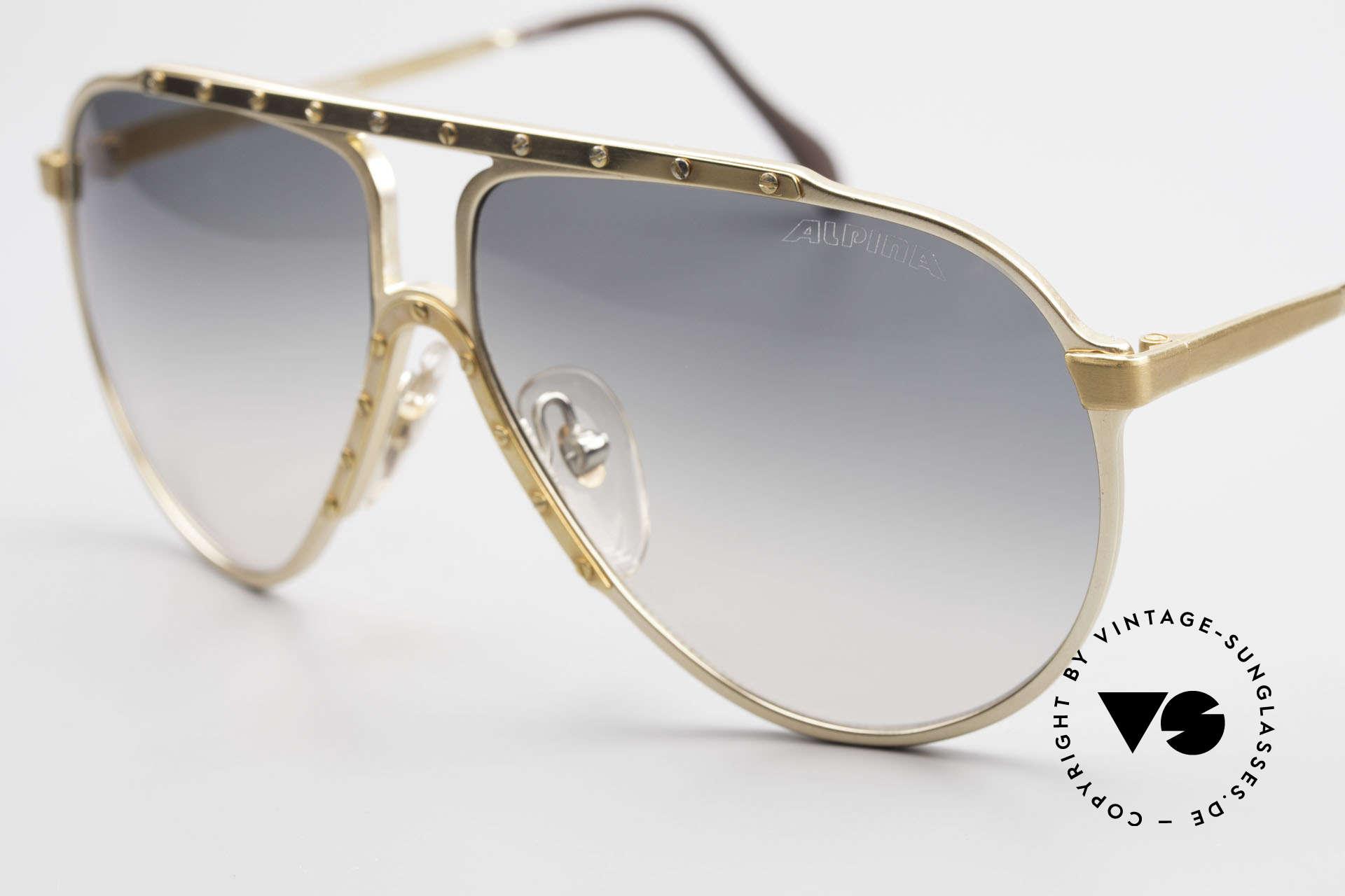 Alpina M1 80er Kult Vintage Sonnenbrille, ungetragenes Sammlerstück mit BVLGARI Etui!, Passend für Herren und Damen