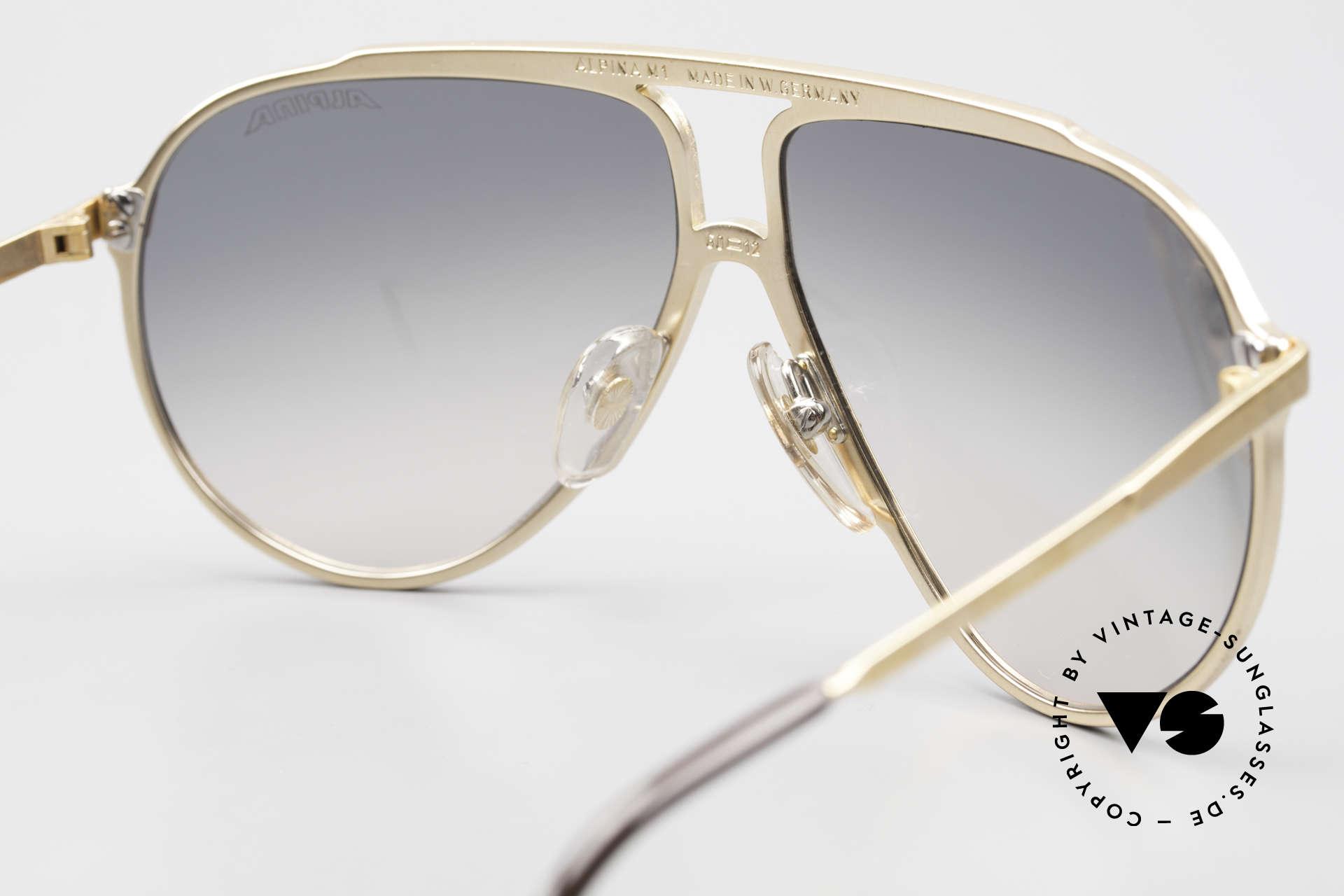 Alpina M1 80er Kult Vintage Sonnenbrille, KEINE Retro Sonnenbrille; das alte 80er Original, Passend für Herren und Damen