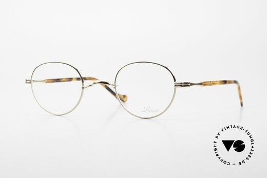 Lunor II A 22 Runde Vintage Brille Vergoldet Details