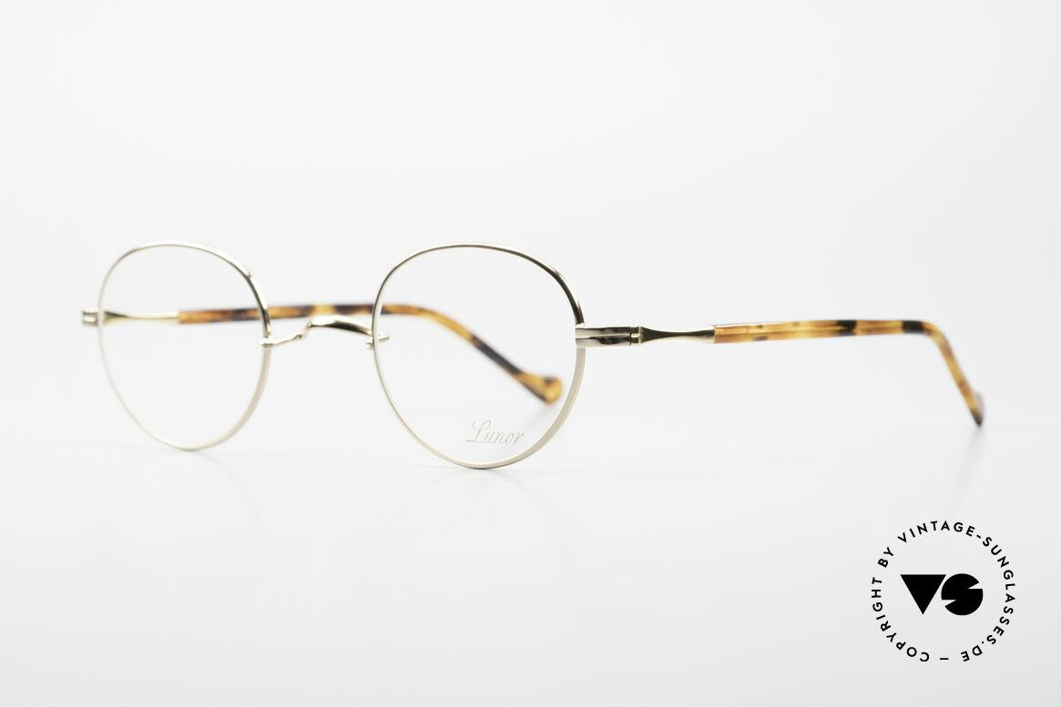 Lunor II A 22 Runde Vintage Brille Vergoldet, ein absoluter Lunor-Klassiker: zeitlos, edel, unisex, Passend für Herren und Damen