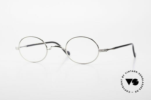 Lunor II A 10 Ovale Vintage Brille Platin Details