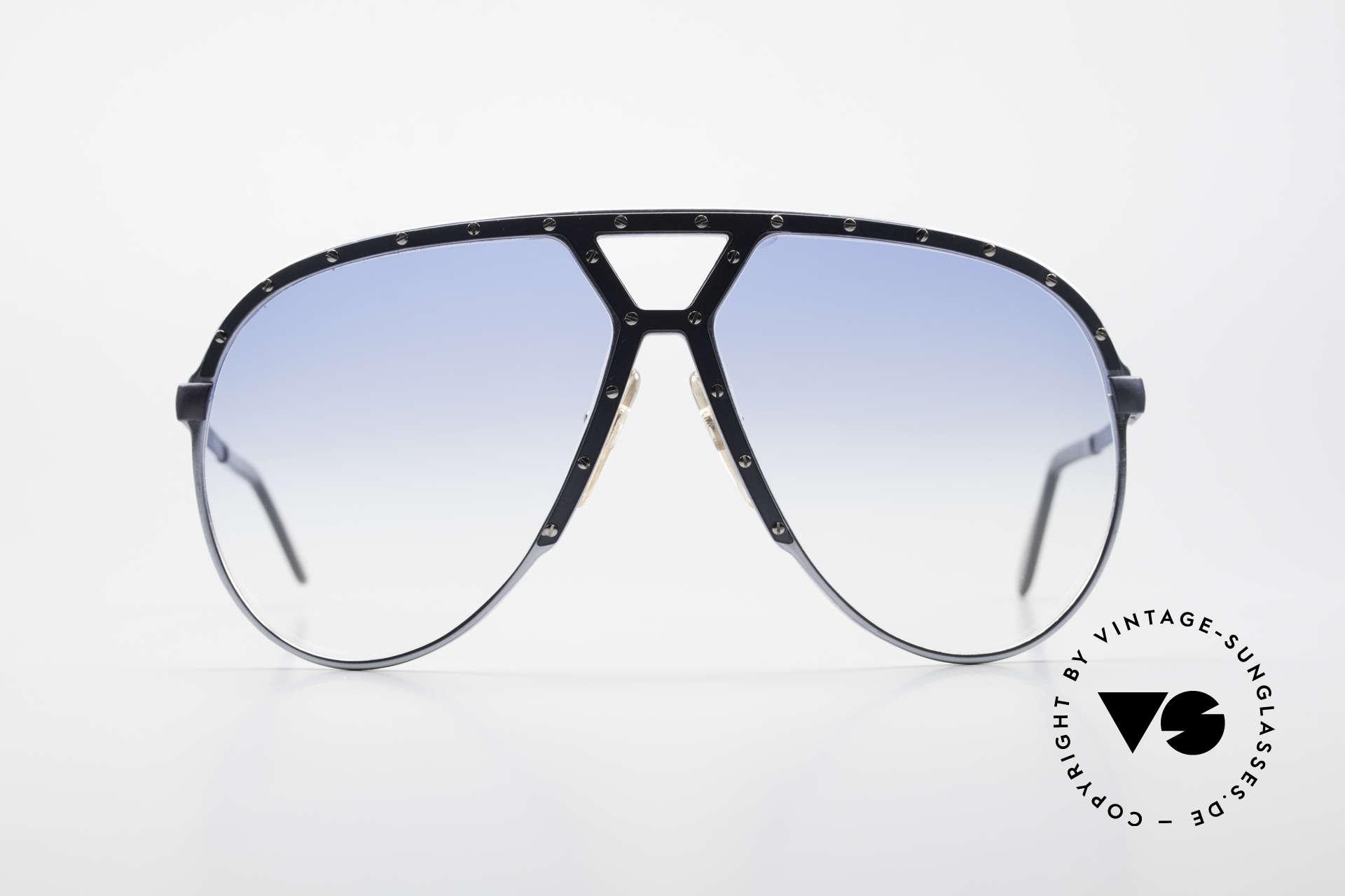 Alpina M1 Erste 80er Generation Brille, eine M1 Rarität von 1981 in BLAU-GRAU metallic, Passend für Herren