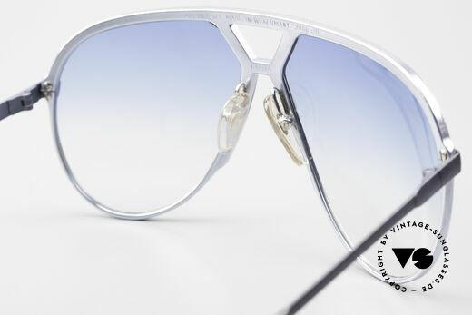 Alpina M1 Erste 80er Generation Brille, ungetragen mit hellblauen Gläsern & Bvlgari Etui, Passend für Herren