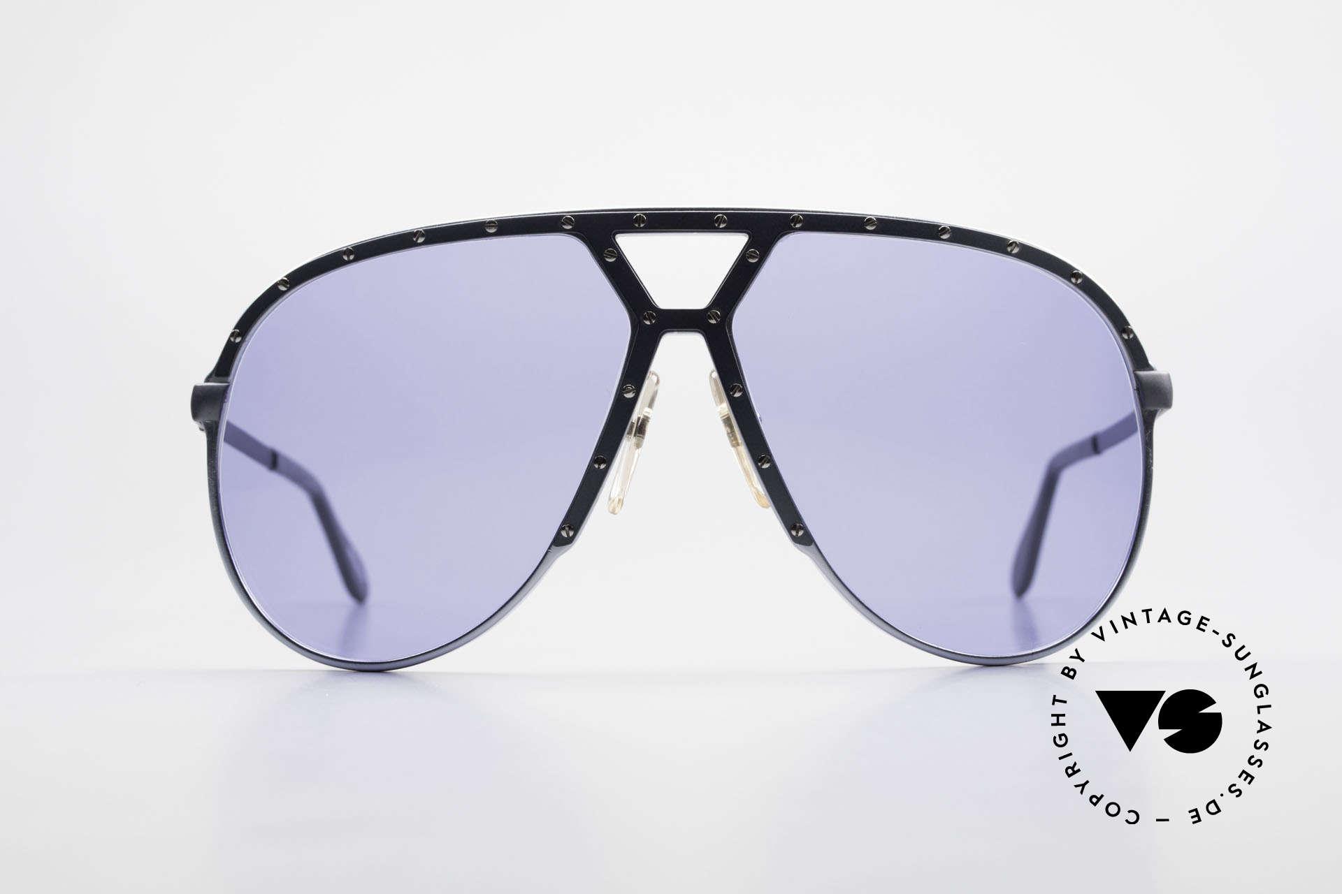 Alpina M1 Alte M1 Sonnenbrille Von 1981, eine echte Rarität in BLAU-GRAU metallic / silber, Passend für Herren