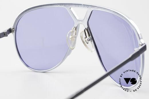 Alpina M1 Alte M1 Sonnenbrille Von 1981, ungetragen mit blauen Gläsern & mit Bvlgari Etui, Passend für Herren