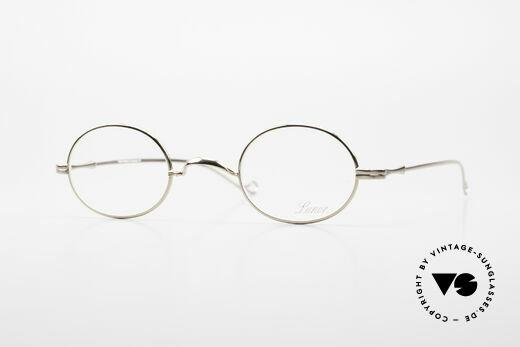 Lunor II 10 Ovale Lunor Brille Vergoldet Details