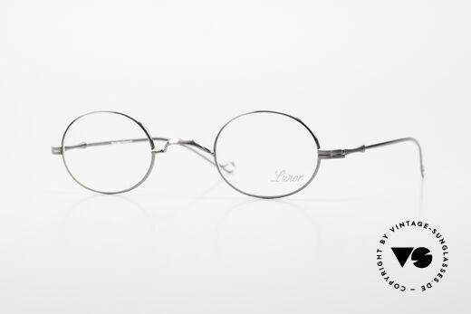 Lunor II 10 Ovale Metallbrille Antik Silber Details