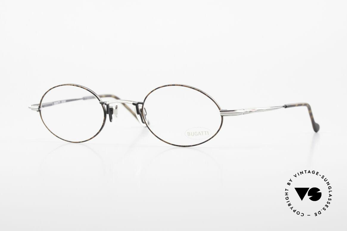 Bugatti 23191 Ovale Luxus Brillenfassung, sehr elegante vintage Brillenfassung von Bugatti, Passend für Herren