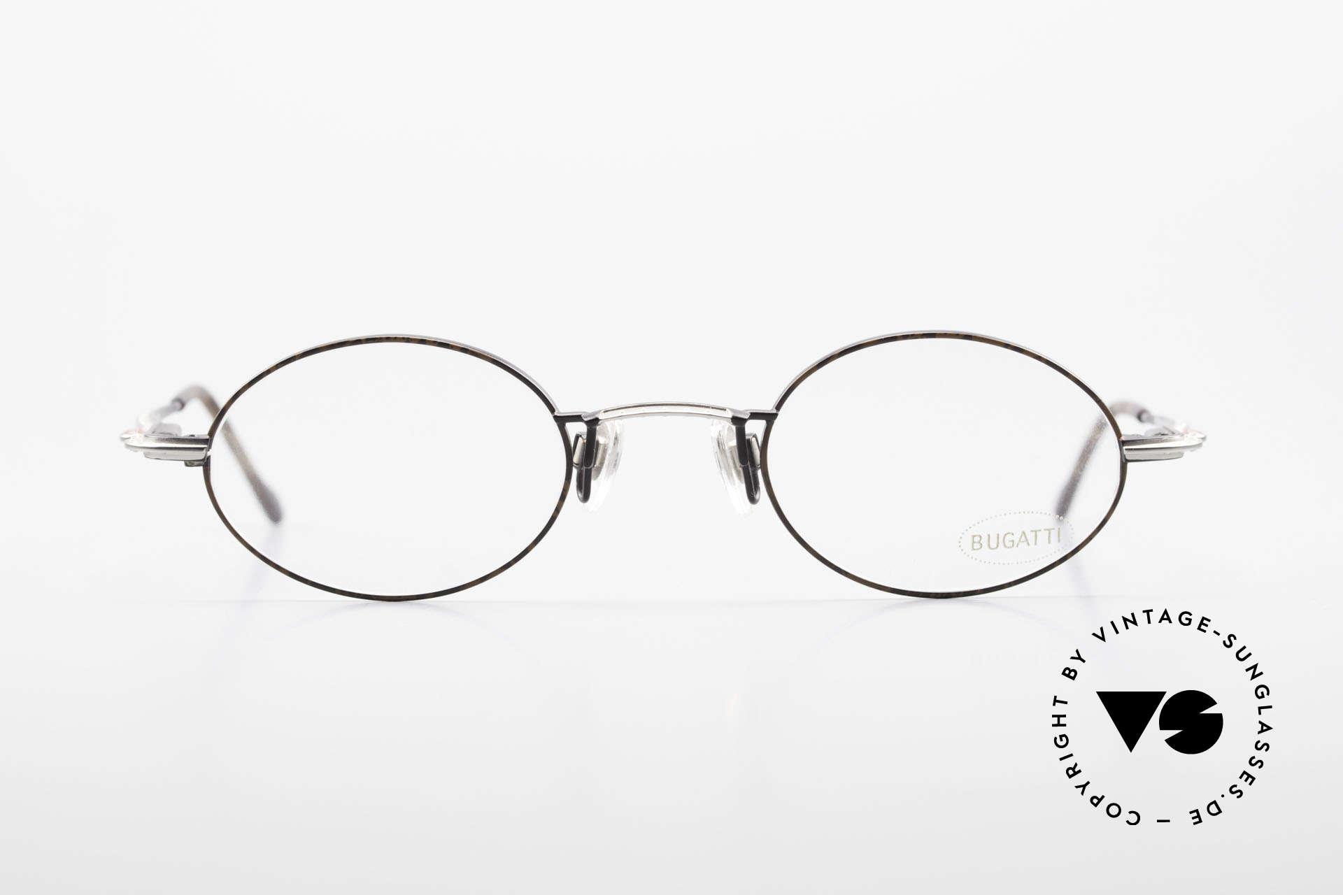 Bugatti 23191 Ovale Luxus Brillenfassung, circa Mitte der 90er J. in Frankreich produziert, Passend für Herren