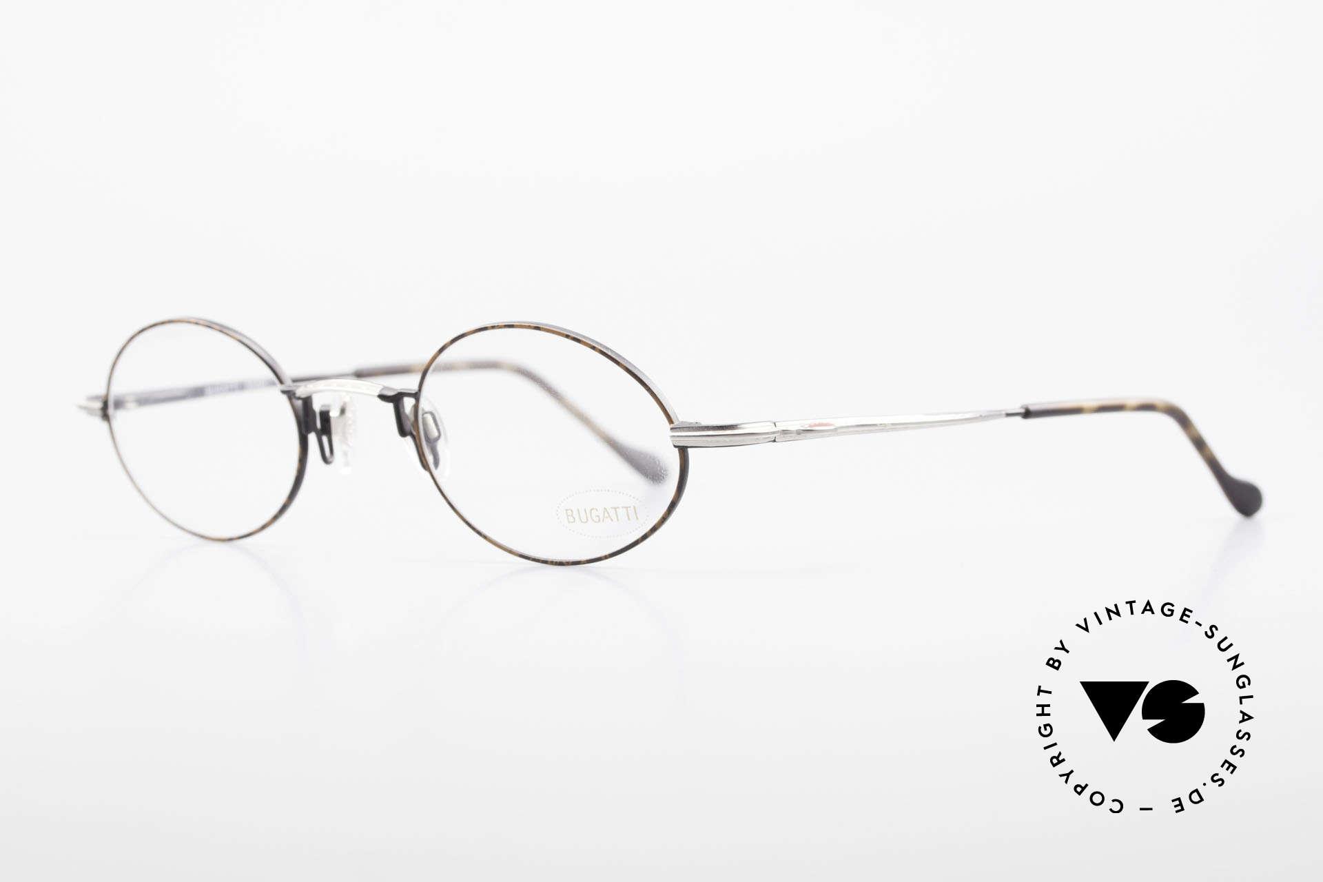 Bugatti 23191 Ovale Luxus Brillenfassung, ergonomisch geformte Fassung in Top-Qualität, Passend für Herren