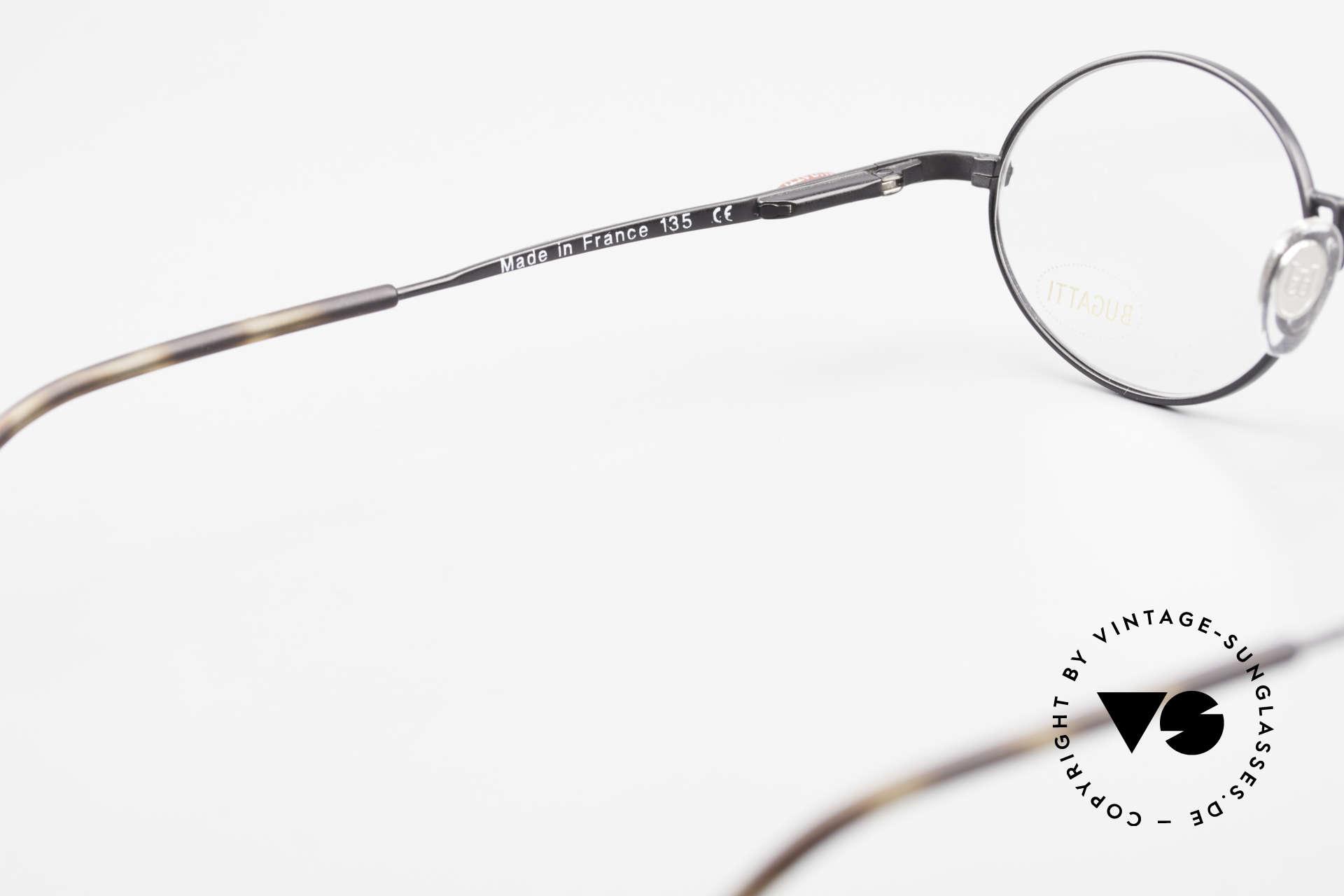 Bugatti 23191 Ovale Luxus Brillenfassung, KEINE Retrobrille, sondern ein altes ORIGINAL, Passend für Herren