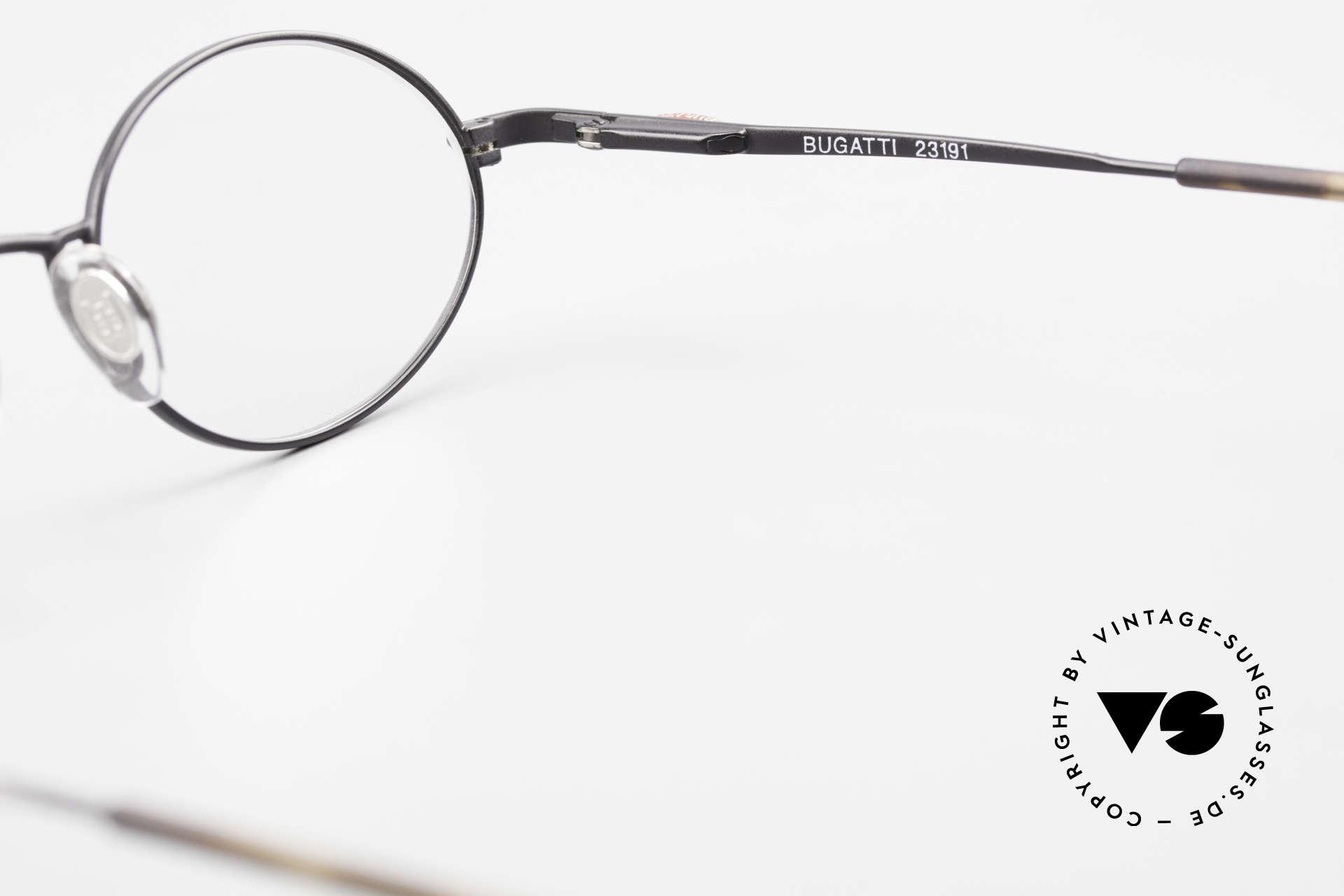 Bugatti 23191 Ovale Luxus Brillenfassung, DEMO-Gläser sind beliebig austauschbar; 47-25, Passend für Herren